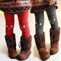 Cheap 2015 New Winter Children's Clothing Baby Girls Thick Velvet Leggings Children Cotton Trousers Rabbit Trousers For Girls Jeans