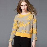 Wholesale Malaka Lo winter new European women s boutique embroidered loose knit sweater on behalf of
