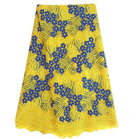 african voile - Best Quality African Lace Fabric Yellow Swiss Voile Lace High Quality Emboridery Cotton French Mesh Lace Fabric Material