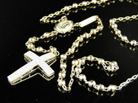 10k gold chain - New Mens K Yellow Gold Rosary Genuine Diamond Necklace Chain