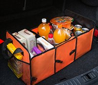 automobile insulation - Hot Sale Three Compartments Car Organizer Foil Insulation Storage Box Automobiles Trunk Organizer with Net Bag