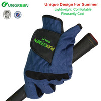 adult baseball gloves - OEM Single Golf Gloves New Style Adult Blue Color Golf Sports hand Gloves for man left hand with Superfiber