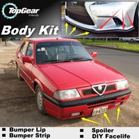 Wholesale Bumper Lip Lips For Alfa Romeo AR Skirt Deflector Spoiler For Car Tuning The Stig Recommend Body Kit Strip