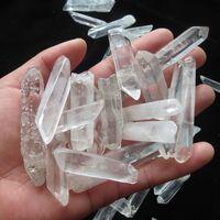 Reiki guérison Avis-10 ~ 15pcs 200g 100% Natural Effacer Lémurien Seed Points Quartz Cristal Raw Material Specimens <b>Reiki Healing</b>