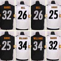 Wholesale 2016 New Men s Le Veon Bell Franco Harris Burns DeAngelo Williams Black White Elite jerseys Top Quality jerseys