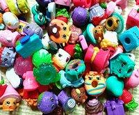 Wholesale cartoon fruit store doll shopping season mixed colors baby girls Model Toys Cute Shopping Basket Figures Toys