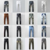 american mens - BALMAIN jeans hot mens designer jeans famous brand balmai jeans men distressed jeans ripped denim balman Robin Jeans