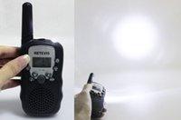Wholesale 2PCS New Pink Walkie Talkie Retevis RT UHF MHz W CH For Kid Children LCD Display Flashlight VOX Two Way Radio