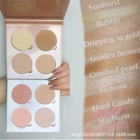 Wholesale 2016 Face Blushes Glow Kit Makeup Set Bronzer Highlighter Blush Face Powder Blusher Palette Cosmetic DHL