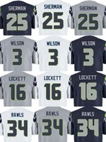 Wholesale Top Quality Wholesales Russell Wilson Marshawn Lynch Thomas Rawls Stitched Jerseys Number Mix Order Accept