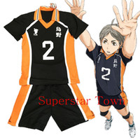 high school uniforms - Summer Haikyuu Hot Karasuno High School Uniform Jersey Volleyball New Cosplay Costume Number T shirt and Pants