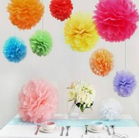 basket ball kids - Party Decoration Tissue paper pom poms artificial flowers balls birthday Wedding decoration kids party supplies