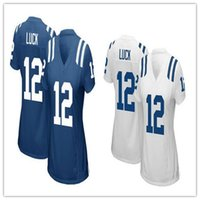 andrew luck shirt - Women s Indianapolis Jerseys Andrew Luck Colts Royal Blue White Football Jerseys Soccer Rugby Jerseys T Shirt Size S XL