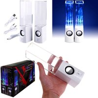 Wholesale Portable Led Usb Dancing Water Speaker Blutooth Music Audio Player in1 Mini Colorful Water drop Show For Mobile Phone Tablet Computer