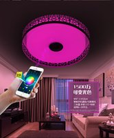 Wholesale Intelligent mobile phone Bluetooth music LED ceiling lamp dimming control APP colorful children bedroom stereo lamp