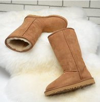 Wholesale Fashion Australia Classic Boots Winter Brand Boots Black Winter Warm Women Suede Snow Boots