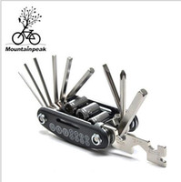 Wholesale 15 in out Bicycle Tools Sets Bike Bicycle Multi Repair Tool Kit Hex Spoke Wrench Mountain Cycle Screwdriver Tool