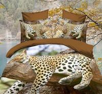 Wholesale New Home Textiles D coloured Oil painting Animal flowers duvet cover set quilt cover flat sheet pillowcases bedding set