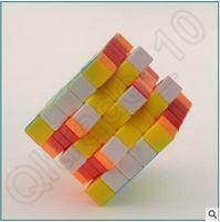 Wholesale 300pcs CCA3711 High Quality Qiyi MoFangGe Aohu mm x5x5 Puzzle Speed Magic Cube Puzzle Twist Cube Educational ABS Plastic Rubik Cube