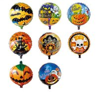 aluminium bats - 18 inches Thicken Halloween Party Balloons Decoration Skull Pumpkin Bat Balloon Party Supplies