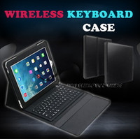 apple key board - Fashion NEW Bluetooth Wireless Silicone Key board Leather stand Case For ipd Air Retina Tablet PC Stand Drop shipping