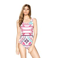 One Piece Polyester 3D printing Abstract art digital printing Personality Europe element backless sleeveless sexy swimsuit Siamese hot spring lady cloth