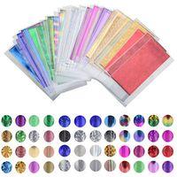art universe - 48 Sheet cm cm Mix Color Transfer Foil Nail Art Star Design Sticker Decal For Polish Care DIY Universe Nail Art