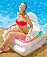 adult folding chair - Folding Water Bed Adult Tourist Beach Float Line Of Inflatable Chair Armrest Chair