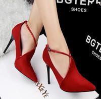 les femmes chaussures habillées hauts talons sexy bout pointu Semelle Rouge Talons Chaussures Femmes Pompes mariage vert Chaussures Valentine Chaussures Chaussures Red Sole