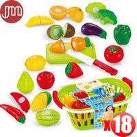 Wholesale New Kitchen Toys Vegetable Food Fruit Cutting Basket Pretend Play High Quality Plastic Funny Kid Educational Learning Toy