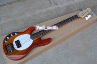 Wholesale Self handed Custom Shop sale promotion String JASS BASS Hot sales Electric Bass Guitar beautiful dark orange High Quality