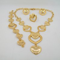 anniversary gift items - New Arrival High Quality Love Forever jewelry sets fashion necklace jewelry sets gold plated item for