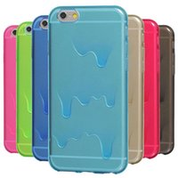 al por mayor fundir los casos de helado-Cute 3D Melting Ice Cream Tasty Melt suave Transparente TPU Teléfono Funda para el iPhone de Apple 5 5S SE 6 6S Plus