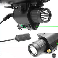 airsoft rifle laser - Tactical nm Green Dot Laser Sight Combo Lumen LED CREE Flashlight Torch For Rifle Airsoft