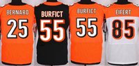Wholesale NIK Elite Football Stitched Bengals Bernard Vontaze Burfi Tyler Eifert Black Orange White Jerseys Mix Order