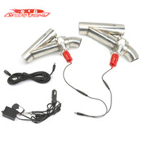 Wholesale SR Set Sets quot mm quot mm quot mm Electric Y Pipe Exhaust Cutout Kit Remote Fit For Double Exhaust Pipe