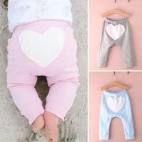 Wholesale Baby Boy Girl Infant Kids Autumn Heart Pattern Warm Pants Trousers Bottoms M