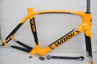 Wholesale carbon road bike frame UD weave yellow black Carbon road Frame Aavilable Glossy Matte road Bicycle carbon Frame cm