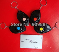 Wholesale 40M dB Electronic in Wireless Remote Finder Keys Finder Lost Alarm Keychain Seeker Locator With Card set