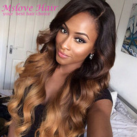 Wholesale Rosa Hair Ombre Brazilian VirginHair Body Wave Ombre Brazilian Hair Weave Bundles Three Tone A Brazilian Ombre Human Hair Weft Extensions