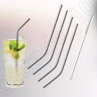 Wholesale Yeti cup Stainless Steel Straws Lengthen straws and Cleaning Brush for Tumbler Rambler Cups OOA252
