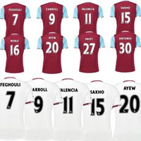 Wholesale Top quality NEW West Ham United Soccer Jerseys CARROLL PAYET ZARATE KOUYATE Maillot de foot Home red away White football shirts
