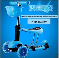 Wholesale Hot sell three in one scooter with soft seat and flashing wheels DHL
