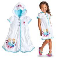 beauty corduroy - 2016 summer beauty fashion girls dresses Elsa Anna Mermaid Sofia kids pajamas polyester nightgowns sleepwear clothes JF