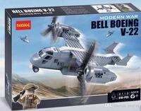 bell carrier - 318pcs Modern War Bell Boeing V Military Carrier Humvee SWAT MiniFigure Building Bricks Blocks Toys Decool