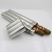 Wholesale stainless steel cigar holder oz flask set Passed FDA Test