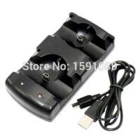 El más nuevo cargador dual del USB que carga la estación del muelle para Sony PS3 mueve el regulador sin hilos (negro), cargador thinkpad