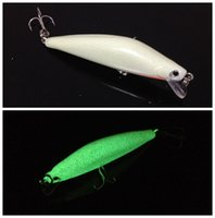 Wholesale 10pcs Fishing Lure Hooks mm g long fish D Luminous Minnow Lures Hard Bait Fishing Hook Artificial Pesca Fishing Tackle Accessories