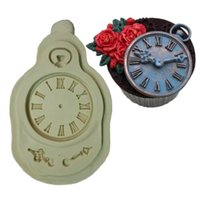 baked pocket watches - Silicone Mold Fondant Cake Mould Clock Pocket Watch Cupcake Decorating Tools Steam Punk Baking Kitchen Accessories FM1065