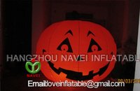 Wholesale 2m Inflatable Pumpkin with lighting blower for halloween event decorations